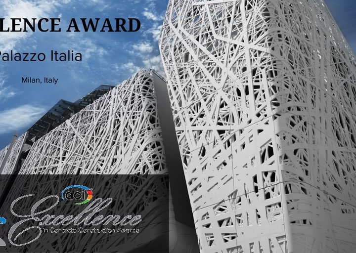 """Palazzo Italia vince l'""""Excellence"""" award conferito dall'American Concrete Institute"""