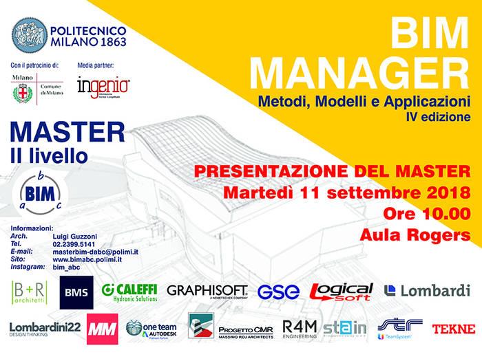 MasterBIM al Politecnico di Milano