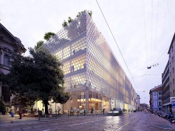 1. TOP SHOT CI23 Building A - Corso Italia Facade © SOM_LT2